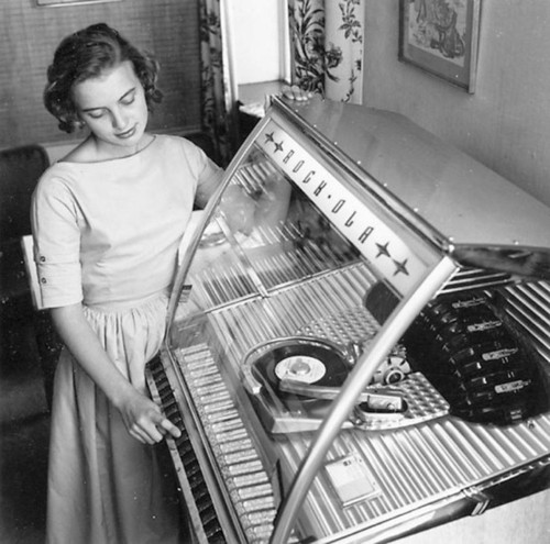 Listening to a jukebox