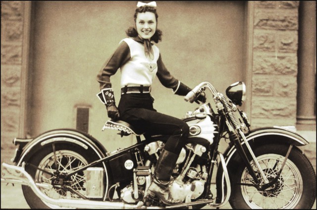 Vintage 1939 womanmotorcycle