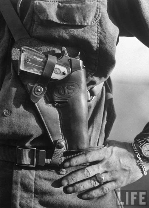 Lt John Ernser, 26, 1911A1 Loiano, Italy 1945
