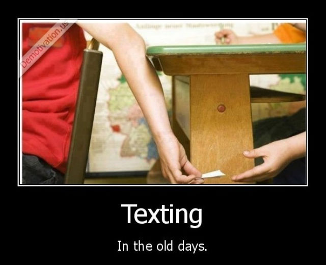 texting olddays